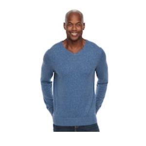 💥Men's Croft & Barrow® Classic-Fit V-Neck Sweater
